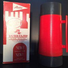 Vintage Aladdin Dura Clad Wide Mouth Vacuum Bottle Box Instructions 2660 Quart