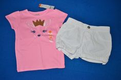NWT Gymboree 3T Girl's Two Piece Princess Deer Shorts Outfit Set