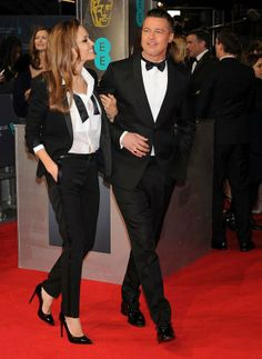 BAFTAs 2014: Angelina Jolie in Saint Laurent