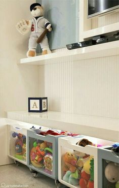 155 clever kids bedroom organization and tips ideas- page 14 Teen Decor, Baby Decor, Kids Decor, Home Decor, Boy Room, Kids Room, Kids Bedroom Organization, Clever Kids, Playroom Design