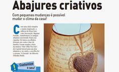 Cúpula de abajur- na Revista Casa Linda