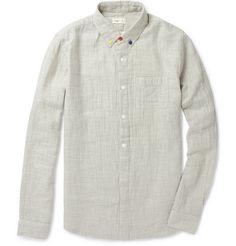 pop-pop-pop: Japanese Textured Cotton Shirt by Folk