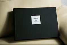 Queensberry Wedding Album | Overlay Matted, Black Microleather cover | Larry McMahon Photography #weddingalbum