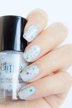 Milky Way - lovely jelly glitter polish #glitter #nails