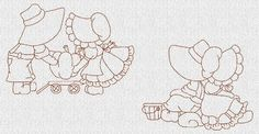sunbonnet sue embroidery patterns | Sunbonnet Sue Kids Redwork Machine Embroidery Designs ...
