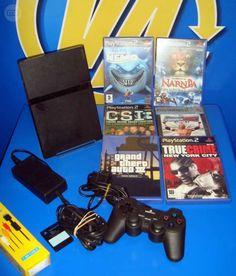 . consola PLAYSTATION 2 con 6 JUEGOS- + memory card y mando BUEN ESTADO CCARMEN2B45
