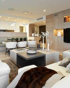 Wandfarbe Cremeweiß Für Moderne Atmosphäre - Wohnzimmer Und Offene ... Wohnzimmer Cremeweis