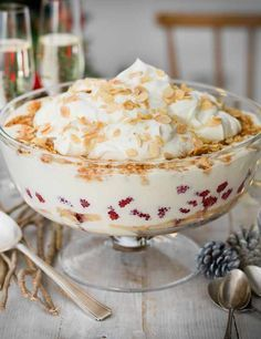 Try our Christmas trifle recipe. This easy trifle recipe uses amaretti to make it an indulgent Christmas dessert. It's a simple twist on the classic trifle Christmas Trifle, Best Christmas Desserts, Christmas Cooking, Holiday Recipes, Christmas Catering, Christmas Ideas, Christmas Entertaining, Christmas Goodies, Christmas Candy