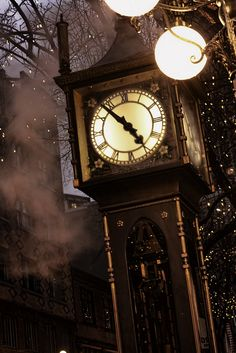 Gastown Steam Clock, Vancouver, Canada - so magical. #stylecure.    I stood near the clock and had my picture taken.  1997.