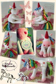 Einhorn * gehäkelt * unicorn * girl * rainbow * crochet * Amigurumi * https:// www.facebook.com / fraeuleinwollwunder