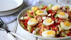 Feta-savulohisalaatti - Helppo ja nopea arkiruoka - Suklaapossu Feta, Cobb Salad, Salads, Food Ideas, Salad, Chopped Salads