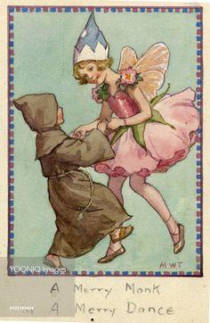 'A Merry Monk, A Merry Dance' - two children dancing. Margaret w. Tarrant