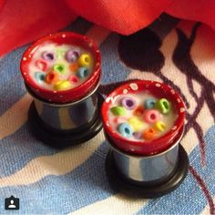 Fruit loops plugs, gauges, stretched ears