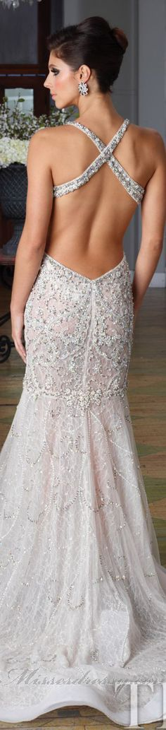 Beaded Long Evening Gown by Terani #back <3