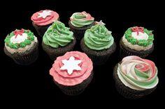 Christmas cupcakes. Cupcakes de Noël.