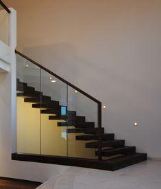 treppe und gel nder glas stahlkonstruktion haus innen