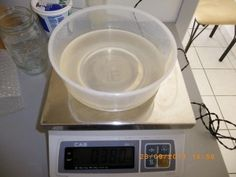 Making transparent soap at home - weighing ingredients