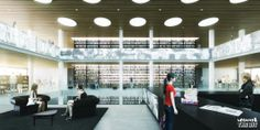 Erasmus University Library Competition. Netherlands. KAAN Architecten. 2013