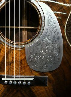 genuine leather carved pickguard for acoustic or by leetalor leather lust pinterest. Black Bedroom Furniture Sets. Home Design Ideas