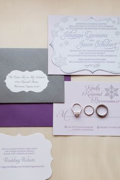 Custom Winter Wedding Invitation by Staccato