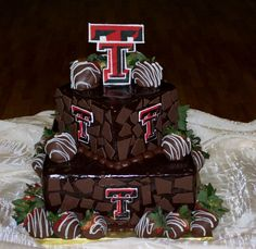I just love this Grooms Cake! Texas Tech!...psh, grooms cake, this will be THE cake at my wedding :D