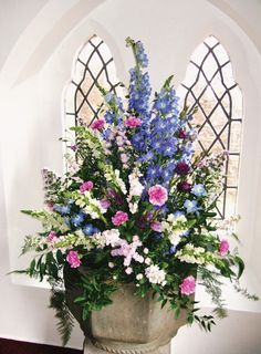 Farmgate Floral Design - Church flowers - Beautiful and creative flower… Arrangements Funéraires, Creative Flower Arrangements, Church Flower Arrangements, Church Wedding Flowers, Altar Flowers, Funeral Flowers, Church Weddings, Amazing Flowers, Beautiful Flowers