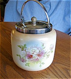 Antique Staffordshire biscuit jar. For sale at More Than McCoy at http//www.morethanmccoy.com