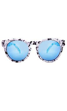 07aedaa64c1b Quay High Emotion Sunglasses in White Marble Sunglasses Accessories