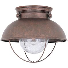 Weathered copper mounted light