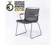 Houe Chaise à accoudoirs Click Dining - gris Outdoor Chairs, Dining Chairs, Outdoor Furniture, Outdoor Decor, Design Bestseller, Design Awards, Patio, Home Decor, Restaurant Ideas