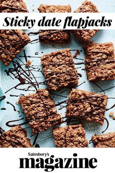 Bake these sticky date flapjacks for a yummy teatime treat - they're quick, easy and gluten-free too Gluten Free Treats, Healthy Treats, Healthy Food, Healthy Recipes, Date Syrup Recipes, Healthy Biscuits, Flapjack Recipe, Sticky Date Pudding, Food Tech