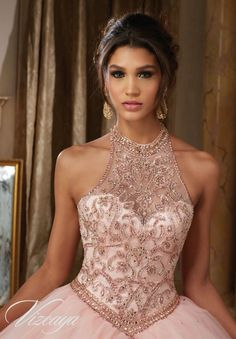 Morilee Vizcaya Quinceanera Dress 89114 JEWELED BEADING ON PRINCESS TULLE BALL GOWN Matching Bolero Jacket. Available in Light Purple, Blush, Bahama Blue, White (Color of this dress): Blush - blue dresses for women, cute short white dresses, burgundy fall dress *ad