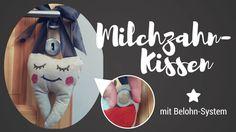 Zahnkissen handgemacht - Anleitung & Vorlage #milchzahnkissen #zahnkissen #zahnfee #vorschulkinder #vorschulkind #wackelzahn #milchzahnverloren #milchzahnbelohnung