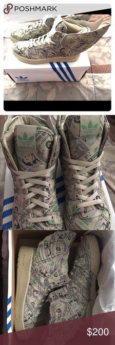 originali adidas jeremy scott ali d'oro, nere scarpe nere d'oro, jeremy 3fec40