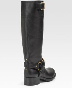 best women's motorcycle boots | Prada Lugsole Motorcycle Boots in Black - Lyst