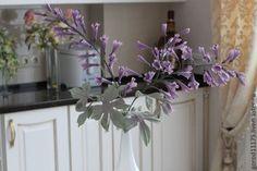 Купить Колокольчики из шелка. - фиолетовый, колокольчики, интерьерная ветока, флористика, шелковая флористика, украшение для дома