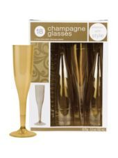Gold Champagne Glasses - Party City