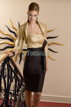 Etui normale Taille Brautmutterkleid/ Abendkleid mit Falte Mieder mit Schmetterlingsknoten