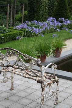 Vintage | Garden | Bench | Pool