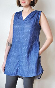 The Endless Summer Tunic Pattern- so simple, perfect in linen or nani iro double gauze