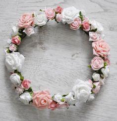 Ślub - dodatki-wianek ślubny biało-różowy
