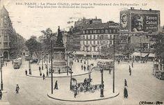 place de Clichy vers le boulevard des Batignolles