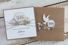 Christian Cards, First Communion, Confetti, Holi, Greeting Cards, Place Card Holders, Scrapbook, Weeding, Pink