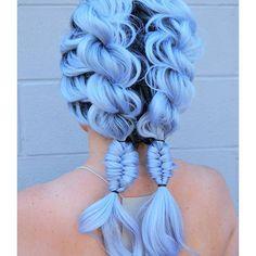 Hair by: @amandajeank #color#blue#bluehair#mermad#color#hotonbeauty#creative#galaxy#purple#mint#green#hair#hairideas#hairstyle#hairstylisy#braid#glam#vivid#blend#colorhairdontcare