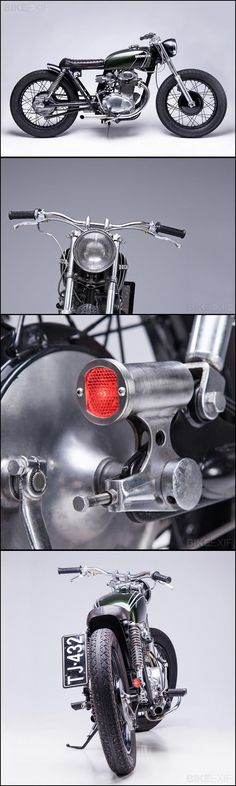 Honda CB350 Bratstyle. Pinning for that taillight. That thing is excellent...