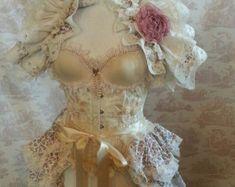 Antoinette bruiloft burleske Bustle Victoriaanse door OpheliasFolly