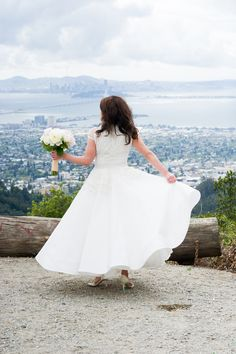 Why yes, Dora is the princess of the Bay Area! Look at that Naeem Kahn wedding dress!