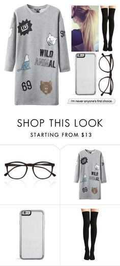 """""""Wild Animal"""" by nayde-line ❤ liked on Polyvore featuring Illesteva, WithChic and 97"""