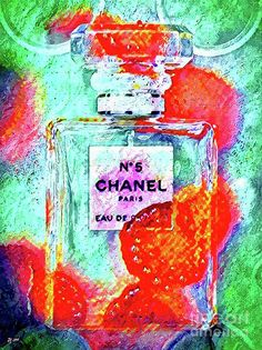 Vintage Mixed Media - No5 Colored Splash by Daniel Janda