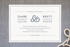 Rope Ampersand Wedding Invitations (minted)
